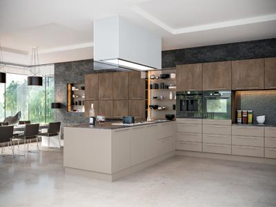 Grey Brown Metallo Stone Grey Kitchen-Portfolio