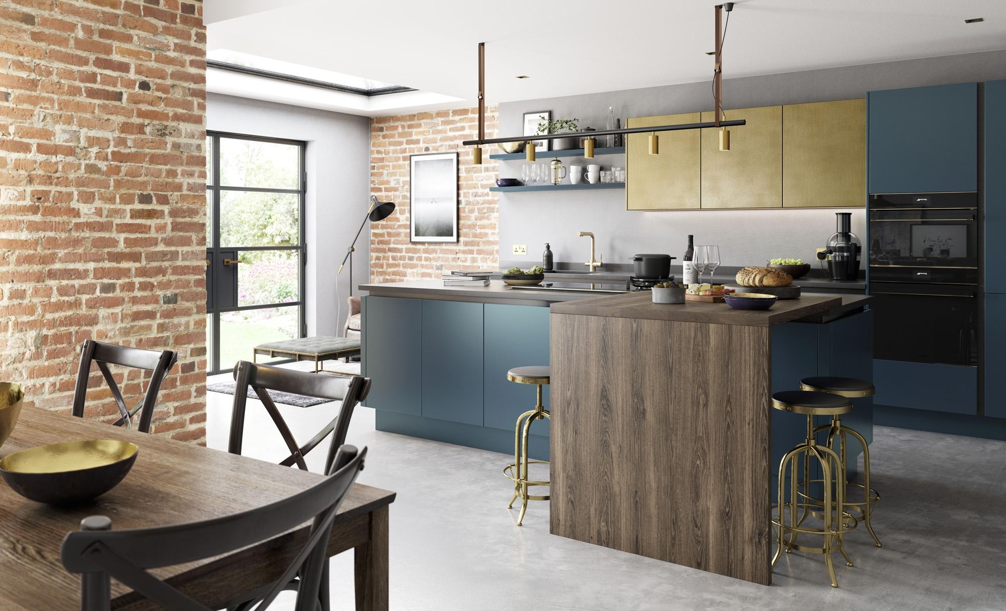 modern-contemporary-zola-matte-dark-blue-ferro-painted-brass-kitchen-hero
