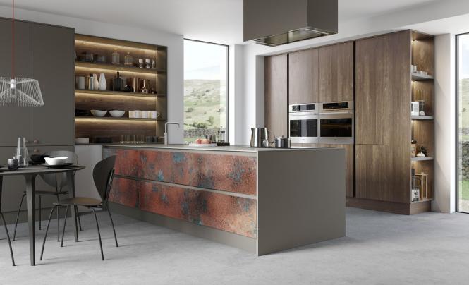 FERRO Oxidised Copper, Zola Matte Lava, Rezana Espresso Oak