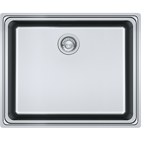 Frames by Franke 1 BOWL SINK WITH DRAINER WITHOUT TAP LEDGE FSX 211 Stainless Steel