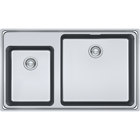 Frames by Franke 1.5 BOWL SINK WITHOUT DRAINER WITH TAP LEDGE FSX 220-86 TPL Stainless Steel